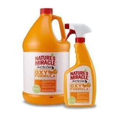 Nature`s Miracle JUST FOR CATS Stain&Odor Remover Oxy Power - средство для уничтожения пятен и запаха меток кошек - 3,8 л