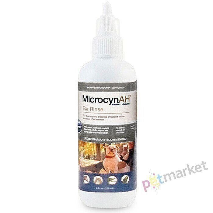 Microcyn EAR RINSE - капли для ушей животных - 120 мл